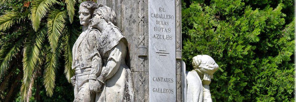 Resultado de imagen de estatua de rosalía de castro de la alameda de santiago de compostela