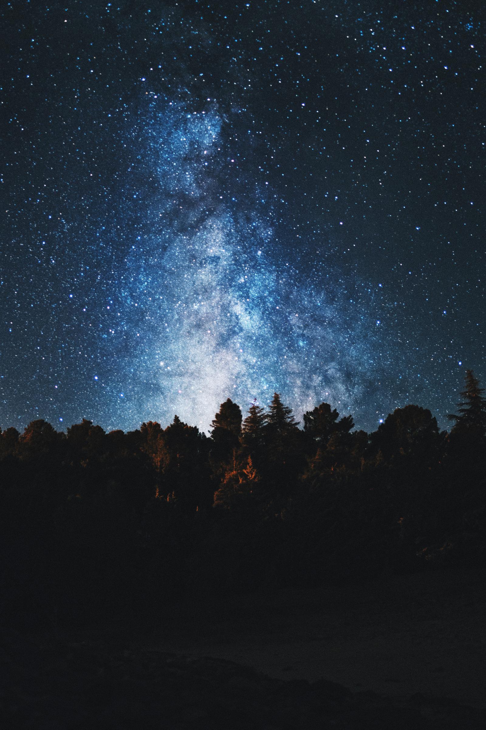 noche estrellada en El Tiemblo